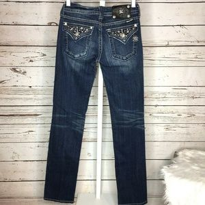 Miss me straight leg embellished jeans size 26